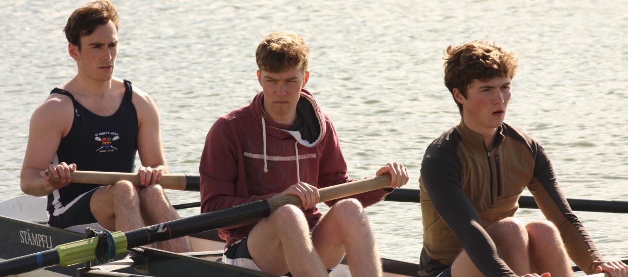 Preparing to row